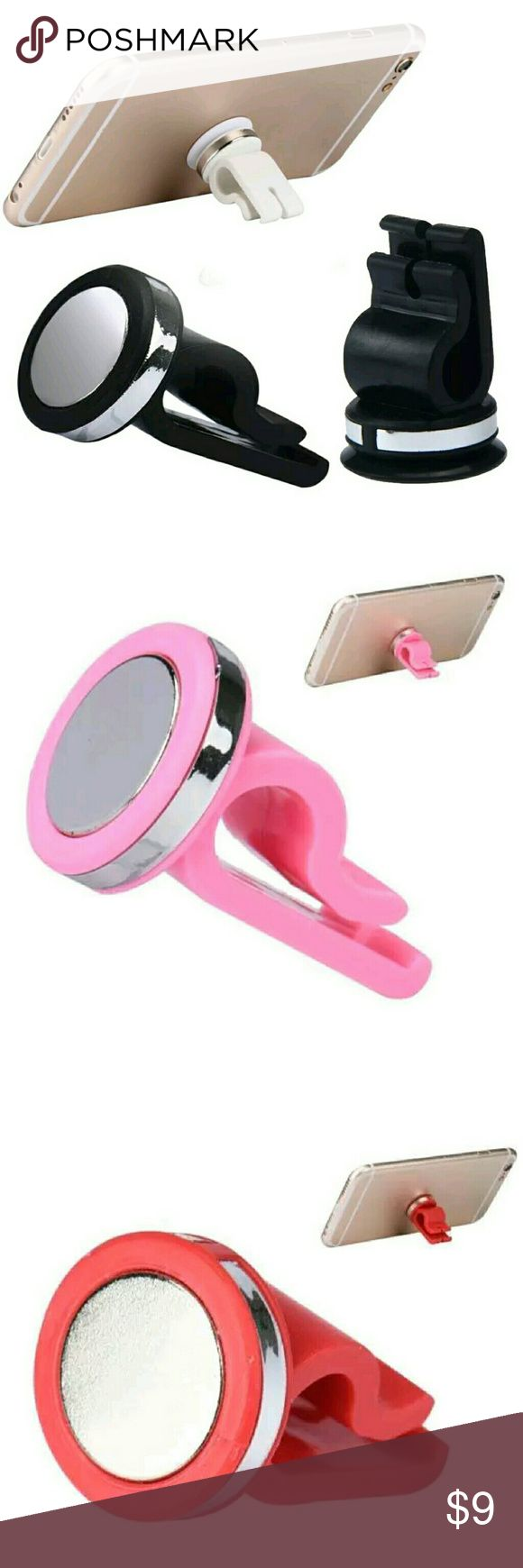 Magnetic Air Vent Cell Phone Holder 100% Brand new High quality. Type: Phone Holder Material: Alloy, Plastic Compatible Brand: Universal Compatible Models: Universal Features:  Strong Magnetic, Convenient and Durable Compatible for iPhone, for iPad, for iPod, for GPS, for HTC, for Samsung etc. This universal sticky magnetic car mount holder, is perfect for holding your digital product onto car dashboard. Prevents devices from scratches and falls. Super compact size.Super strong magnetic…