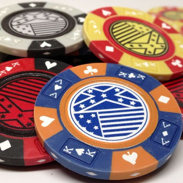 14 gram clay poker chip with full color custom imprint this chip can be customized - Clay Poker Chips