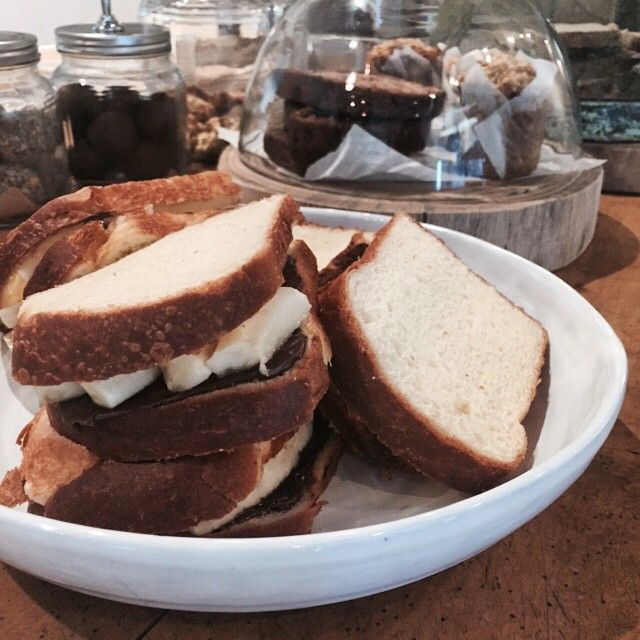 Banana and Nutella toasted Brioche, ready to go on the grill | Little Rae General Store