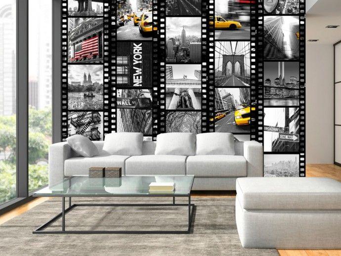 """Modern wallpaper """"NY - diversity"""" #NY #newyork #wallpaper #wallpapers #photoNY #city #homedecor"""