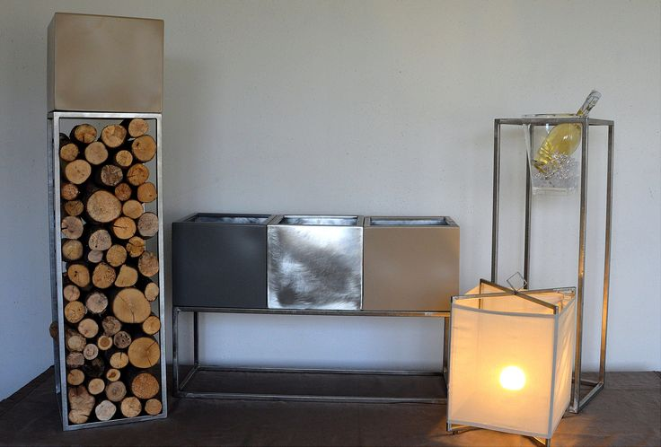 Serie componibile MUM:fioriere,porta.ghiacci,lanterna