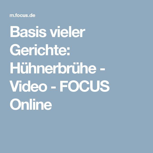 Basis vieler Gerichte: Hühnerbrühe - Video - FOCUS Online