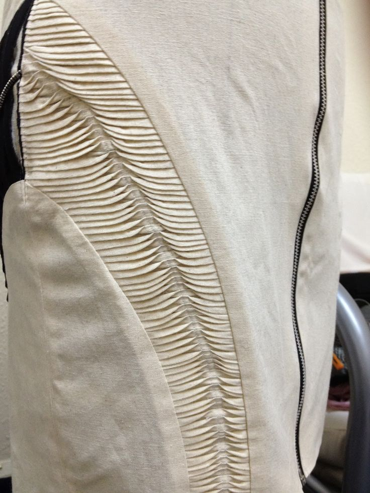 Innovative Pattern Cutting - panelled skirt design with slim wave tucks; creative sewing; fabric manipulation // Ersalina Lim