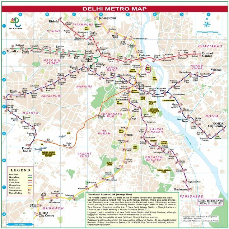 Delhi Metro Map #delhimetromap #mapofdelhimetro http://www.toursoftajmahal.com/blog/delhi-metro-map/