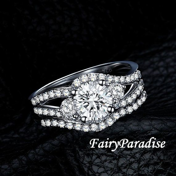 17 Best 1000 images about Bridal Wedding Ring Set on Pinterest Man
