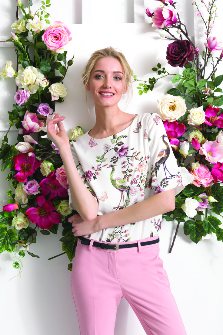 Floral print, paryski szyk, paryski styl, bonjour paris