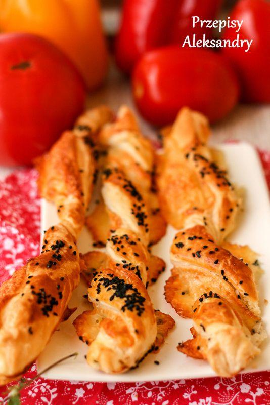 Cheese twists with nigella seeds / Świderki serowe z czarnuszką