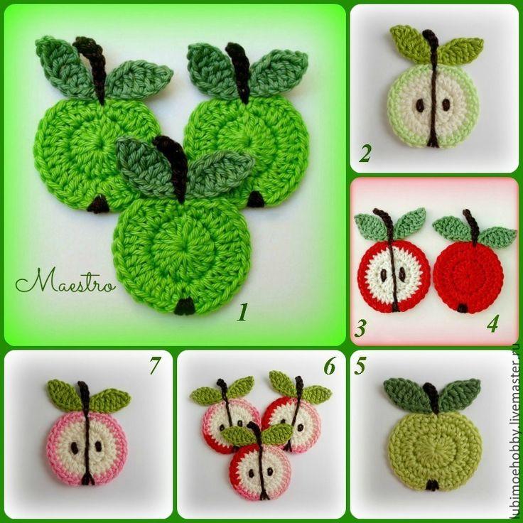 Мастеркласс вязаное крючком яблоко