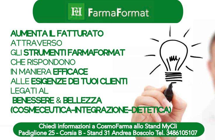 #MyCli presenta #Farmaformat   Scopri di più al #CosmofarmaExhibition!  https://www.facebook.com/MyCli/posts/572019552901095