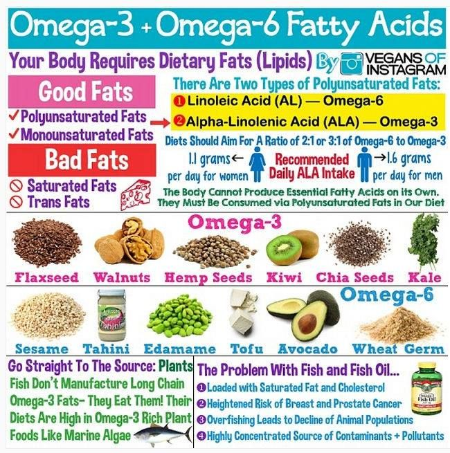 Omega 3 omega 6 fatty acids vegan corner plant for Fish rich in omega 3