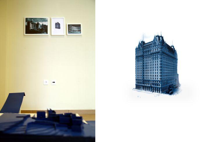 Giorgos Papadatos ,  Radical Resort L.t.d,  cardboard, prints on paper, IKEA tables, dimensions variable, The symptom projects, Amfissa, Greece, 2014