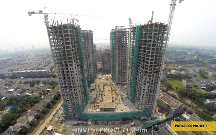 Progress pembangunan apartemen Serpong M-Town Oktober 2016.