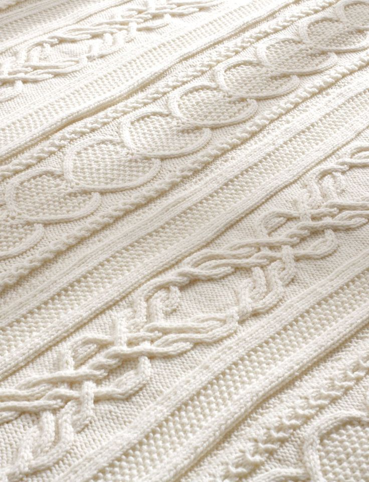 Knitting Afghan Patterns Pinterest : Yarnspirations.com - Bernat Gift of Love Cable Afghan ...