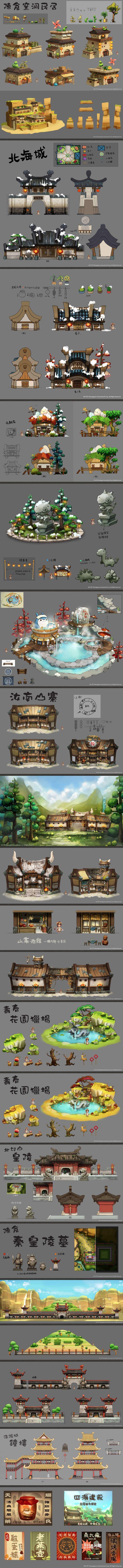中国古代场景设计,场景设定