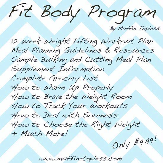 Weight Lifting Program for Women!