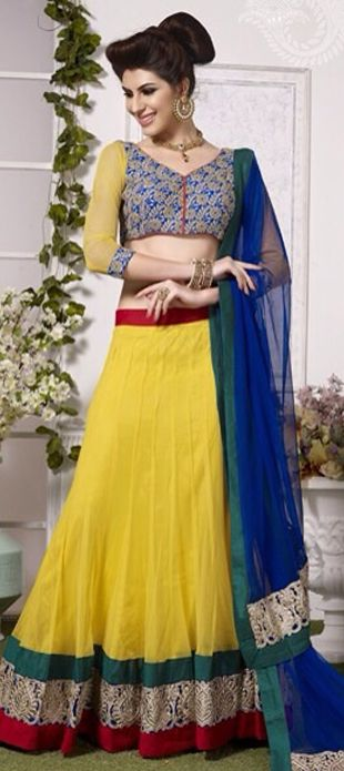 Looking for Net #Lehenga? See this - order at flat 15% off + free shipping.  #OnlineShopping #IndianWedding #bride