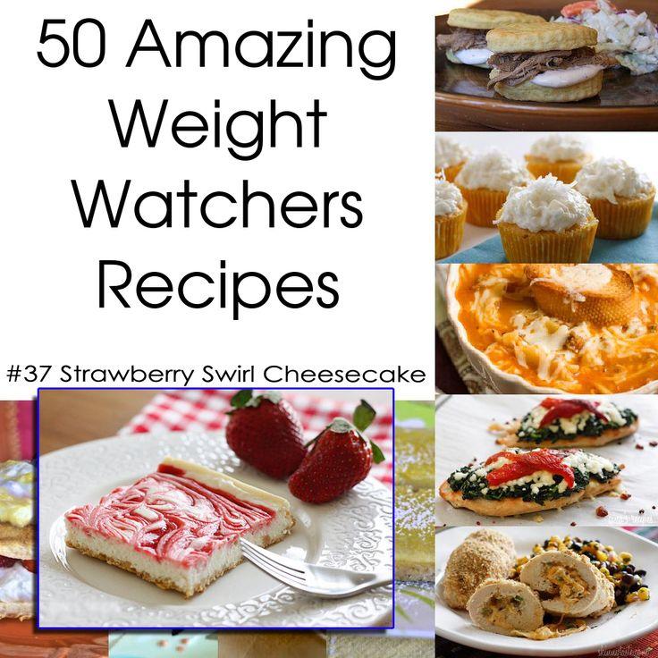 50 Amazing Weight Watchers Recipes - Strawberry Swirl Cheesecake