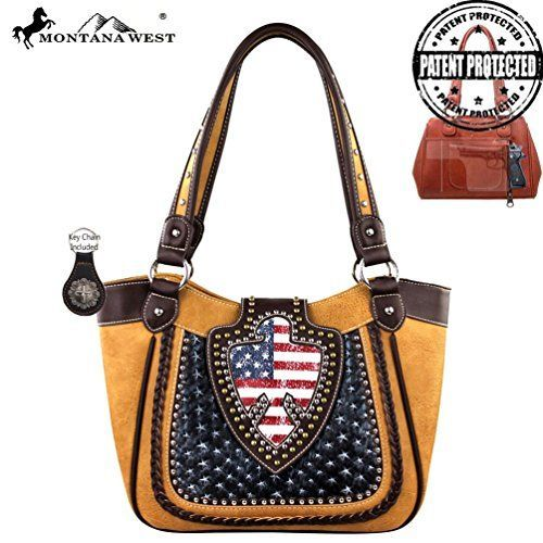Montana West Handbag American Pride Concealed Handgun Collection WUS03G Light Brown * Check out the image by visiting the link.