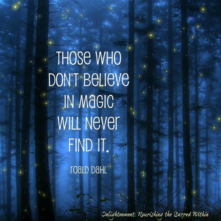 Those who don't believe in magic will never find it..