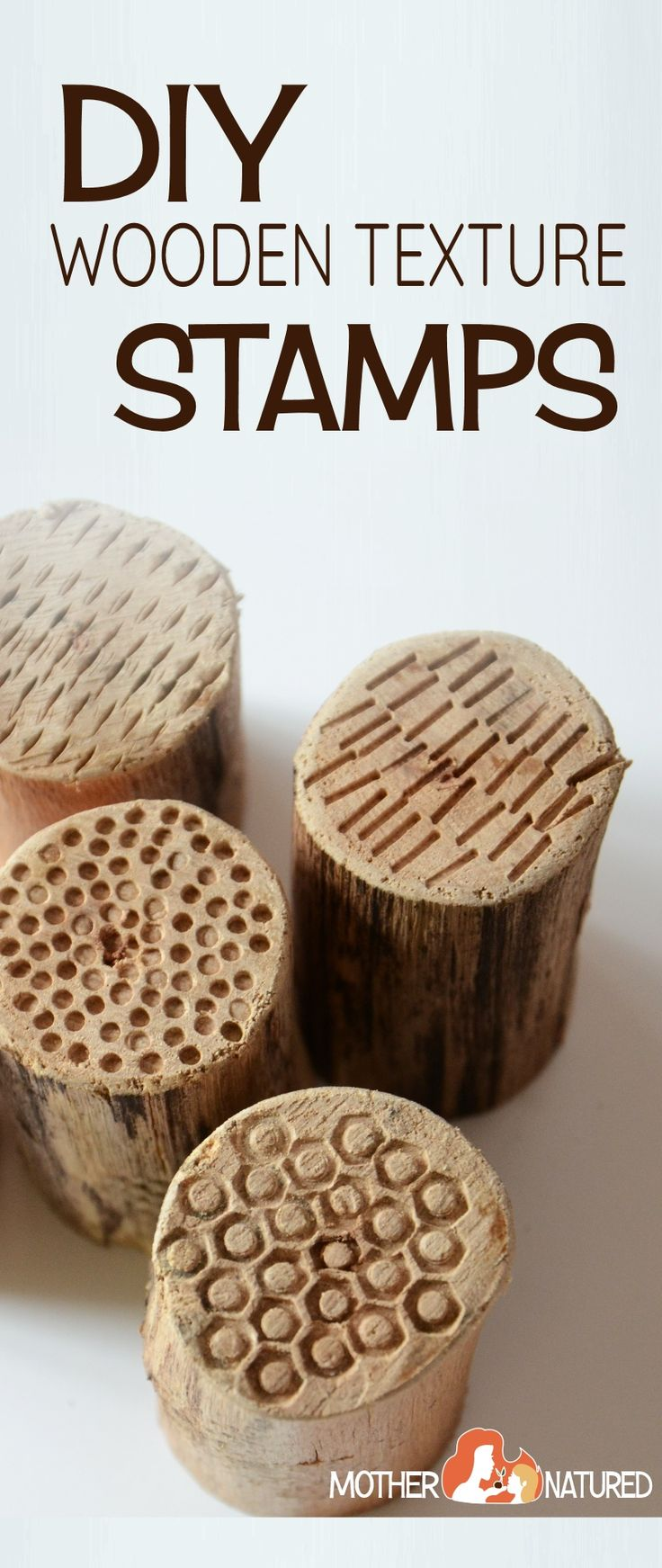 DIY wooden stamps - great project to make for the kids!