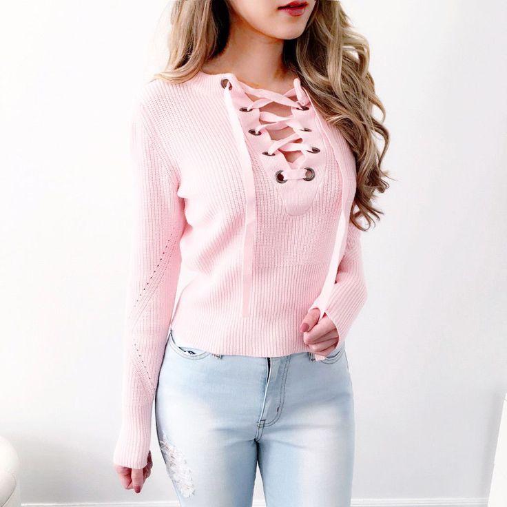 Sweater Over Collared Shirt Women
