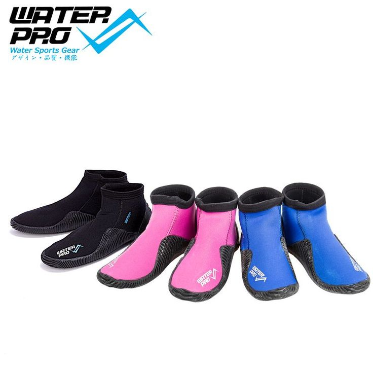 Water Pro Quality Dive Boot  3mm Water Boots Black Rubber Boots for Water Sports Snorkeling Diving