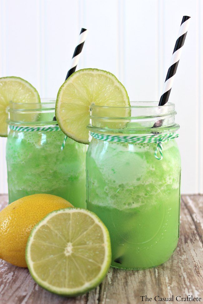 Lemon Lime Sherbet Punch (1 packet of Lemon Lime Kool-Aid  1 cup sugar 1 2 liter Lemon Lime Soda 1 (46 oz) canned pineapple juice  1 (48 oz) lime sherbet)