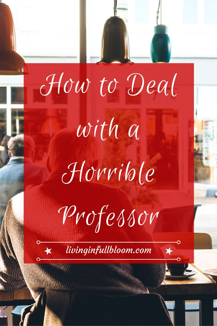 We've all had them! In this post I explore three different types of horrible professors and how to deal with each one!