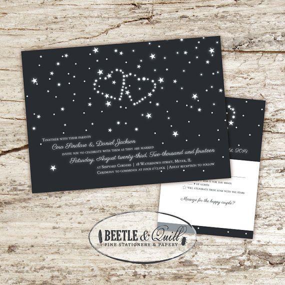 Cosmic Love Wedding Invitation Set