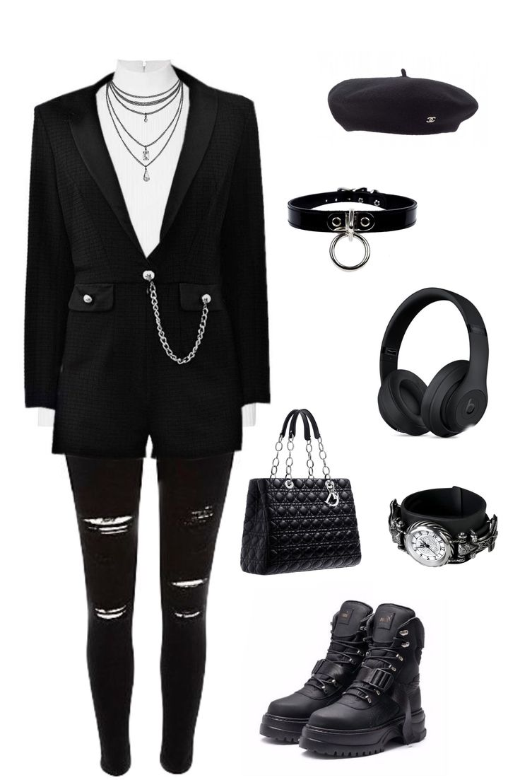 #outfit #5 #blackandwhite #dark #formal #emo #streetstyle ...
