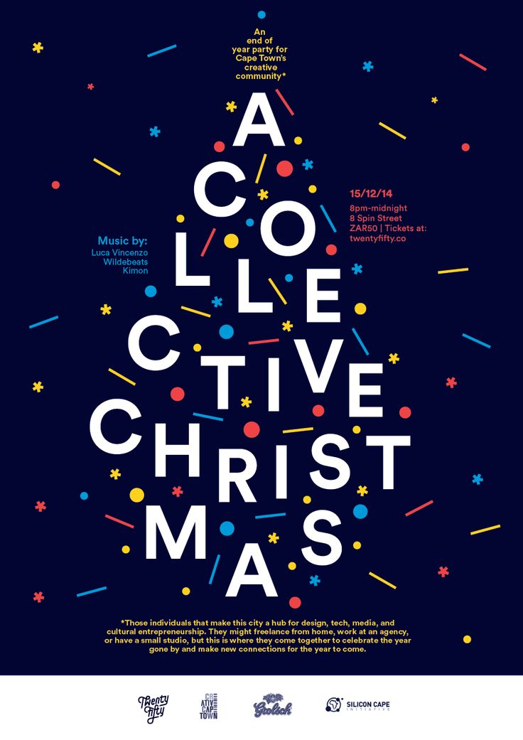A Collective Christmas - An end of year party for Cape Town's creative community #christmas