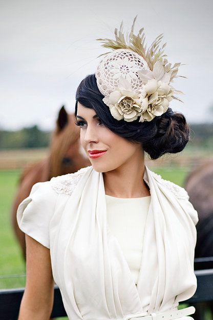 A day at the races - love the hat