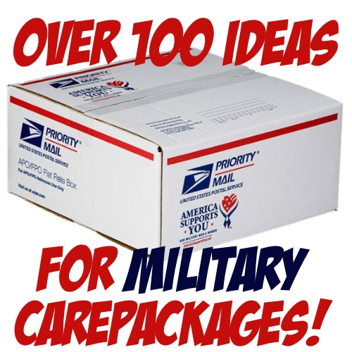 Over 100 Ideas for military care packages