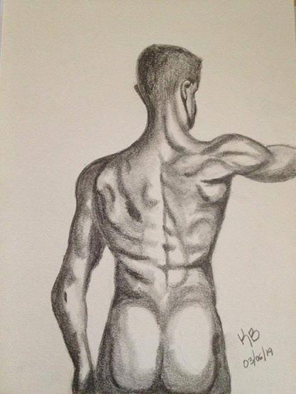 Cuerpo Masculino... dibujo a lapiz de grafito