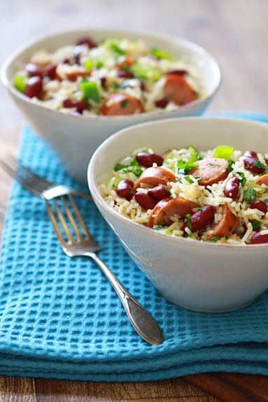dirty rice and sausage recipe Good make-ahead meal since the final ends up in a large dish. Just heat and serve.