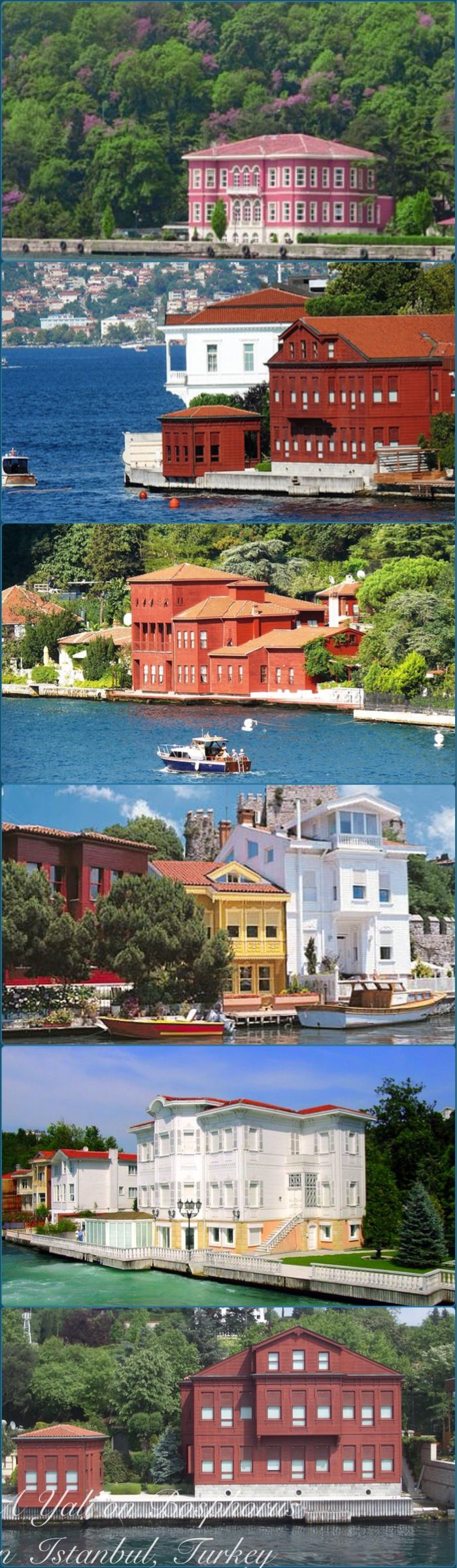 Favorite part of the city: ferry ride seeing these beautiful waterfront homes! Istanbul Bosphorus,Turkey
