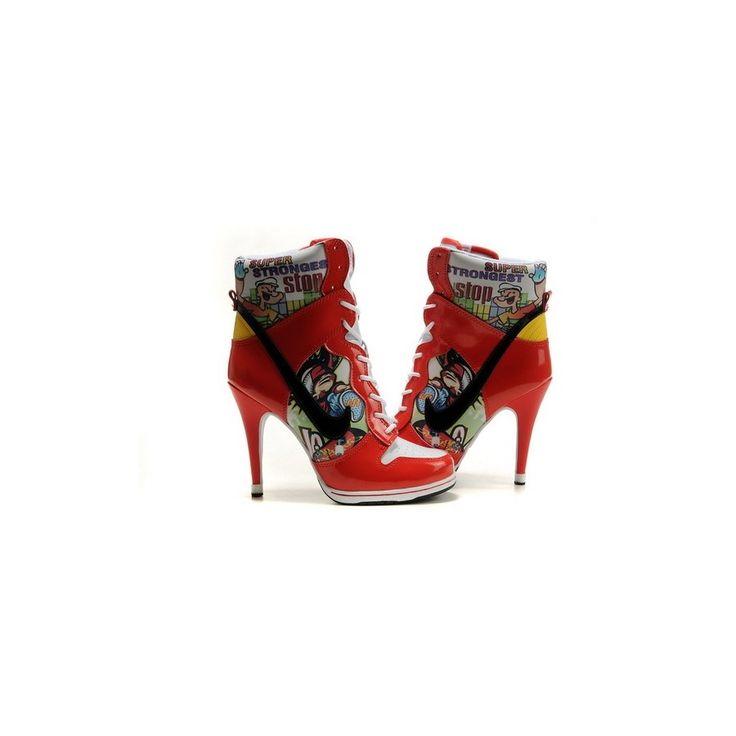 Womens Nike Dunk SB heels high purple/white/yellow/snow/white Shoes