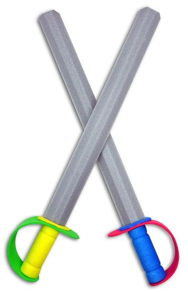 Make with pool noodles and colored duct tape