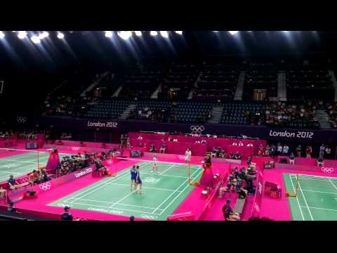 Olympics 2012 badminton -  TEAM GB 3rd Set against russia. 28/07/2012