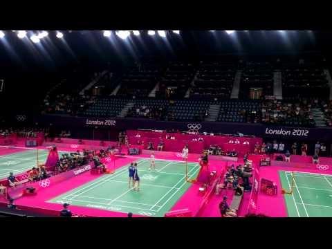 Olympics 2012 badminton -  TEAM GB 3rd Set against russia. 28/07/2012