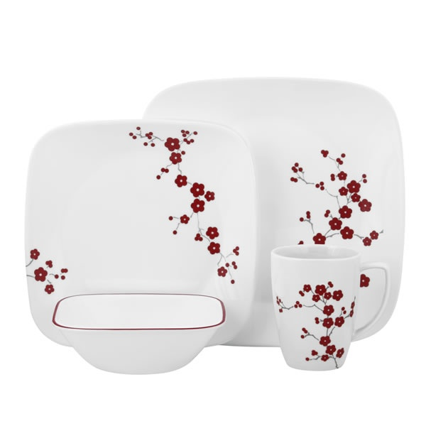 Visit Corelle® For A Square™ Hanami Garden Dinnerware Set. Bright Red  Cherry Blossoms Can Be Found On This Gorgeous Dinnerware Set. Shop World  Kitchen