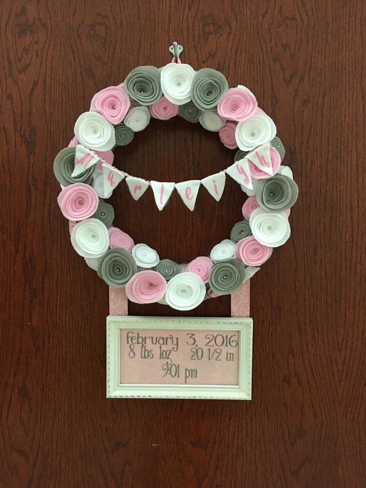 Baby wreath made for my cousin and their beautiful baby girl.