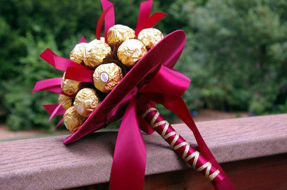 Chocolate Bouquet candy bouquet Ferrero bouquet by MyArteasure, $45.00