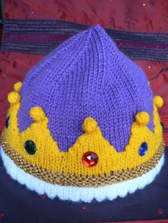THE ROYAL BEANIE by Lorna Musk Fun crown design beanie hat, complete with