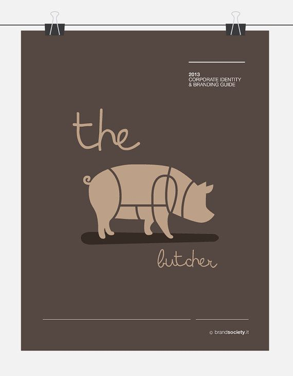 PREMADE la cle LOGO Design  Butcher Shop Animal de par brandsociety, €30.00