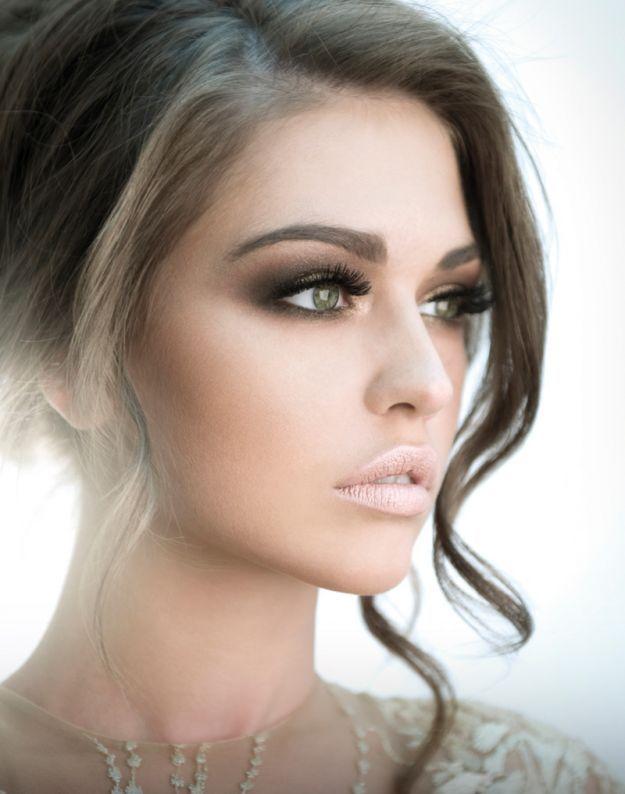 Обворожительный свадебный макияж для карих глаз ::: onelady.ru ::: #makeup #eyes #eyemakeup