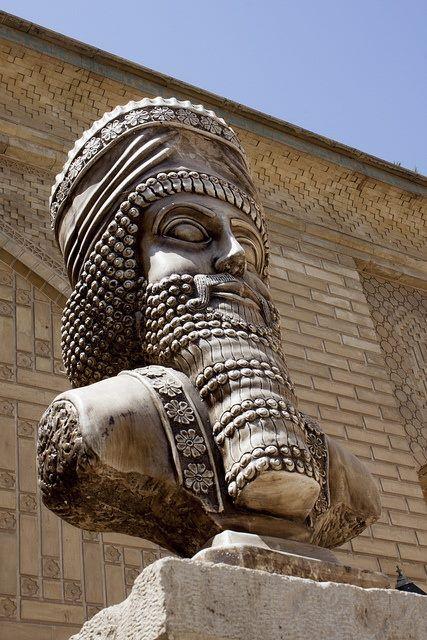 Statue of Great king Cyrus in Shiraz City. Iran