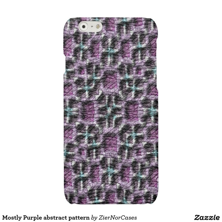 Mostly Purple abstract pattern Glossy iPhone 6 Case