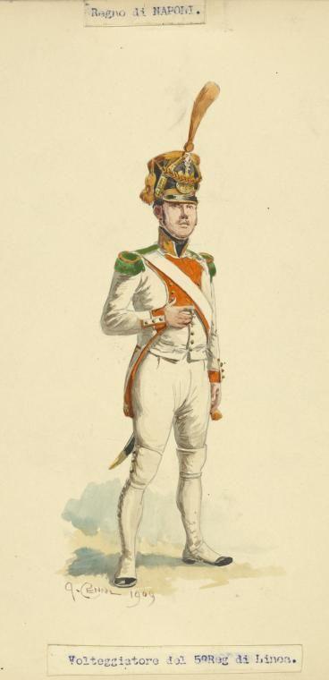 Kingdom of Naples Voltigeur 5th Regiment of Line 1809