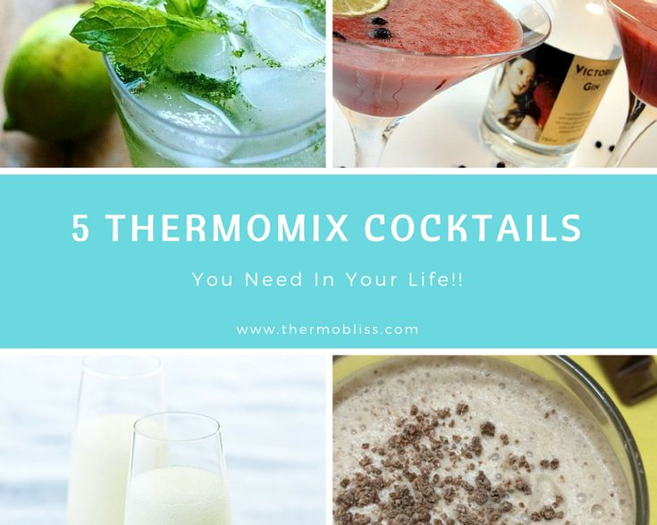 Wow your friends and family with these simple (and delicious) boozy Thermomix cocktails!